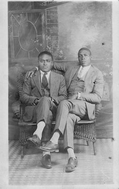 Affectionate Afro American Men, 1920s