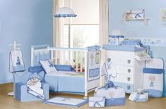 Awesome Baby Nursery Furniture For Prince And Princess Room – Petit Prince And Petite Princesse By Micuna : Awesome Baby Nursery Furniture For Prince And Princess Room – Petit Prince And Petite Princesse By Micuna With Blue Bed Baby Blue Nursery, Boy Nursery Themes, Baby Nursery Furniture, Baby Boy Room Decor, Baby Room Diy, Baby Boy Rooms, Baby Bedroom, Baby Boy Nurseries, Baby Boys