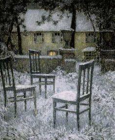 Henri Le Sidaner ~ Snow 1924 ~ Unfinished Business.