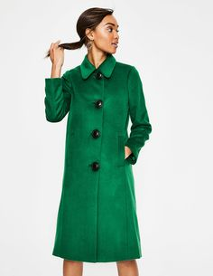 RRINSINS Womens Simple Outdoor Wool BlendOutwear Pea Coat Jacket with Belt