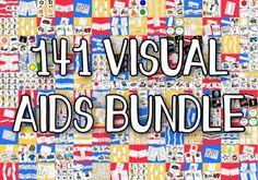 141 Visual Aids Bundle for Autism ASD PECS