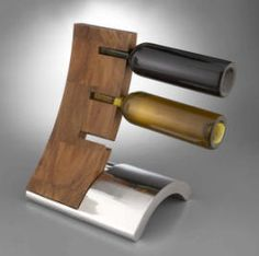 Eclipse Wine rack   the product is made of a combination of wood and aluminium but it is not possible to make for us because we cannot bend aluminium