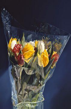 Tulpen in plastic, Tjalf Sparnaay