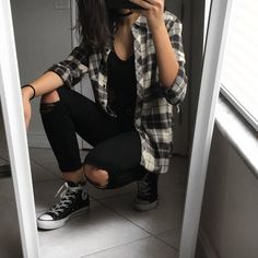 wanderrkid — flannelz yup flannel outfits flannel outfits ideas flannel outfits for women. Tomboy Fashion, Teen Fashion Outfits, Mode Outfits, Look Fashion, Fall Outfits, Outfits 90s, Fashion Images, Pop Punk Fashion, Hipster Outfits