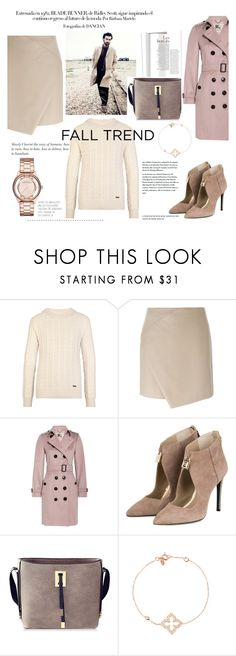 """""""the real gold with a touch of rose"""" by lushxoxo ❤ liked on Polyvore featuring Burberry, Carven and Marc by Marc Jacobs"""