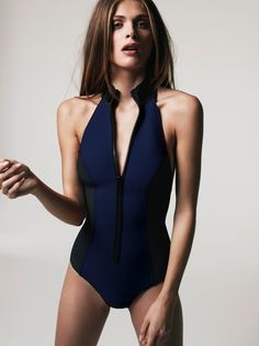 neoprene swimsuit!  Love this. Functional and attractive