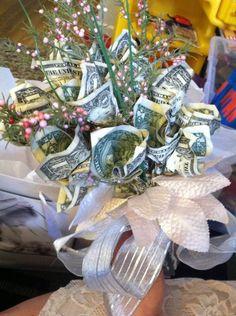 so pretty   a beautiful gift idea  a money flower boquet