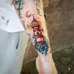 Lighthouse @artevidatattooink @worldfamousink#tattoo #tattoos #tattooart #tattooartist #darkartist #blackwork #art #tatuaggio #darkart #tatuaje #inked #inkedgirl #inkedmag #tattooarm #tattooarmada #equilattera #dot #dotworktattoo #inkstagram #inkstint #black #roses #rosestattoo #girl #girltattoo #draw #drawing #realistictattoo #realism | Artist: @oldfoxtattoo