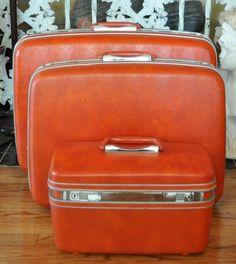 Vintage set of Samsonite luggage