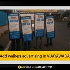 look walkers,ad walkers,I walkers advertisement in Vijayawada,Andhra pradesh adzshop-innovative advertising.