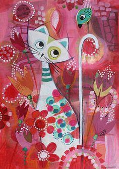 Cat Posters, All Poster, Nose Drawing, Illustration Art, Illustrations, Art Drawings For Kids, Whimsical Art, Art Plastique, Rock Art