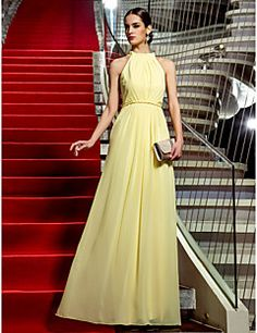 Sheath/Column Jewel Floor-length Chiffon Evening Dress inspired by Haley Finnegan at Emmy. Get amazing discounts up to 70% Off at Light in the Box with Coupon and Promo Codes.