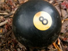 The Eight Ball / Billiard Ball / Pool Ball by assemblage333, $12.00
