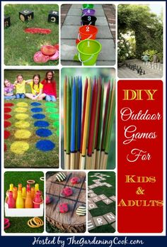 Outdoor Games for Kids and Adults 7 Great DIY Outdoor Games and Activities for kids and adults backyard bible camp Backyard Bible Camp, Backyard Games, Backyard Kids, Garden Games, Lawn Games, Outdoor Games For Kids, Outdoor Fun, Outdoor Twister, Craft Ideas