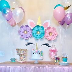 Breanne Davis added a photo of their purchase Party Unicorn, Unicorn Themed Birthday Party, Unicorn Birthday Parties, First Birthday Parties, Birthday Party Themes, 5th Birthday, Birthday Ideas, Unicorn Baby Shower Decorations, Unicorn Decor