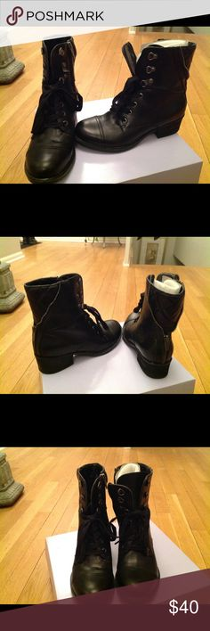 Brand New Marc Fisher black ankle boots size 7 These gorgeous Marc Fisher short booties have amazing zipper details that help to spice up the classic ankle boot look. In mint condition, would make a great addition to any closet. Size 7 Marc Fisher Shoes Ankle Boots & Booties