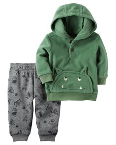 Baby Boy 2-Piece Monster Hoodie & Fleece Jogger Set | Carters.com