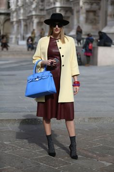 Confira uma seleção de looks de street style da semana de moda de Milão Inverno 2016: