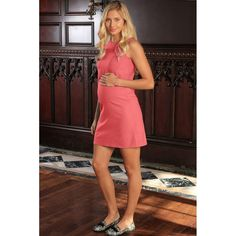 573176a588 Coral Pink Stretchy Sleeveless Spring Shift Dress - Women Maternity Stylish  Maternity