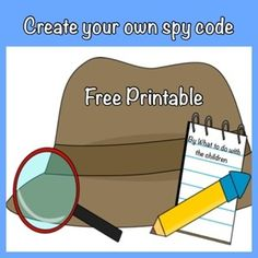 Free Spy Code printable. Thanks for a simple game!