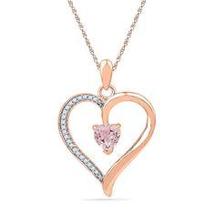 10K Rose Gold 0.09 TCW Diamond Pendants by Chakirjewelry on Etsy