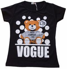 t.shirt maglietta donna  ragazza cotone made Italy stampa bear orso tg. S/M-L/XL