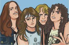 Heavy Metal Rock, Heavy Metal Music, Heavy Metal Bands, Classic Cartoon Characters, Classic Cartoons, Metal Drawing, Metal Art, Metallica Art, Make Mine Music