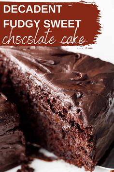 Worlds Best Chocolate Cake Recipe, Perfect Chocolate Cake, Amazing Chocolate Cake Recipe, Decadent Chocolate Cake, Decadent Cakes, One Bowl Chocolate Cake Recipe, Chocolate Cakes, Cake Recipes From Scratch, Cake Ingredients