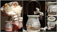 Decoupage #christmasdecoration #decoupage #candle #xmas #handmade Handmade Christmas, Decoupage, Christmas Decorations, Xmas, Candles, Places, Christmas, Navidad, Candy