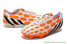 FG ADIDAS Predator Instinct WHITE/BLACK/ORANGE Mens World Soccer Shop