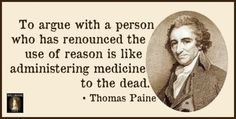 You can't reason with an unreasonable person...