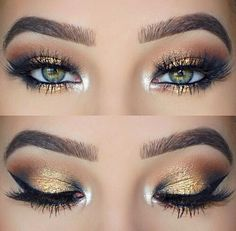 Beautiful eye makeup Prom Eye Makeup, Homecoming Makeup, Eye Makeup Tips, Wedding Makeup, Makeup Ideas, Grey Makeup, Makeup For Green Eyes, Yellow Eyeshadow, Eyeshadow Looks