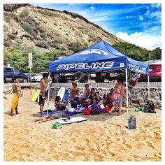 Just another Weekend at the beach with the Ohana at Sandy's on Oahu.  #pipelinegear #aloha #hawaii #pipelinegear #shade #mahalo #ohana #family #beach #beachday #saturday #sandys #blessed #summertime