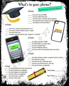 Graduation Party Ideas! Fun Game to play.