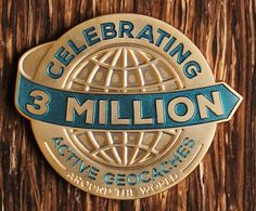 Celebrate 3 million active hides in a big way, with this extra big and cool geocoin!