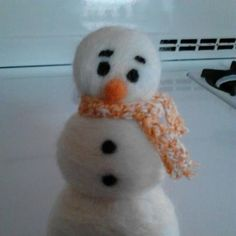 12/17/12 - I made this little needle felted snowman after seeing something similar here on Pinterest. made by Jamie Malley