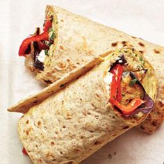 Vegetarian Meals: Grilled Veggie and Hummus Wraps   CookingLight.com