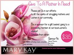 Contact me if you want to help! http://www.marykay.com/lisabarber68 call or text 386-303-2400