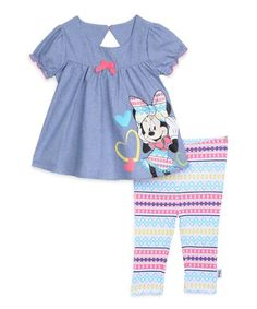 Look at this Minnie Mouse Tunic & Striped Leggings - Infant on #zulily today!