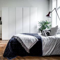 51 Scandinavian bedroom inspiration Simple swedish grey and blue Bedroom bedrooms grey and Scandinavian Bedroom Decor, Nordic Bedroom, Scandinavian Interior Design, Cozy Bedroom, Home Decor Bedroom, New Swedish Design, Decoracion Vintage Chic, Tidy Room, Rustic Bedroom Design