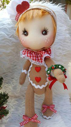 Pepita disfrazada de galleta de gengibre.