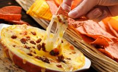 Queso Fundido con Chorizo LG: Made this for our gourmet group...not a bit leftover, great recipe!