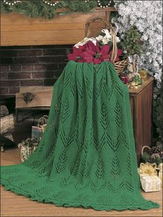 Knitting - Afghan & Throw Patterns - Holiday & Seasonal Patterns - The Greens of Christmas Afghan