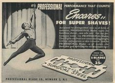 Vintage 1945 PROFESSIONAL BLADES Half-Page Magazine Print Ad - Shaving Razor #ProfessionalBladeCo