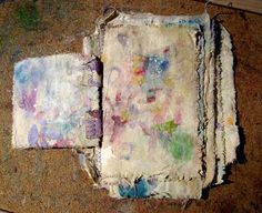How to make muslin journal pages