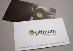 Optimum Fotography business card design: