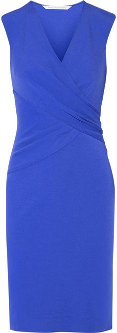 Diane von Furstenberg Diane Von Furstenberg Leora Wrap-Effect Stretch-Crepe Dress