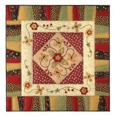 Folk art butterflies mini-quilt - The Cinnamon Patch