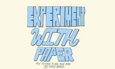 How to make a one-page zine (with a poster on the back!) | Experiment with Nature