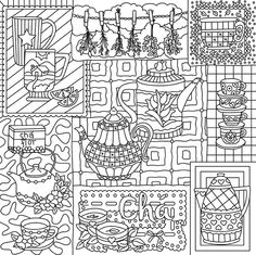 Chai time colouring page